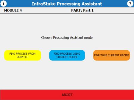 Processing Assistant Screen